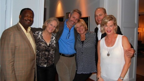 Robert Mallett, Alma Paty, actor Michel Gill, actor Jayne Atkinson, John Paty, and Valerie Mallett at a private dinner in Washington on Saturday, Oct. 18. (Photo courtesy of Valerie Mallett)
